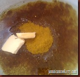 curry powder in hot oil with butter