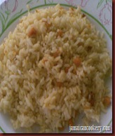 plate with cooked pumpkin rice