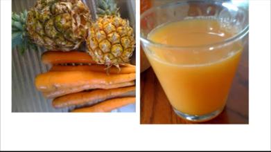 carrot pineapple drinks