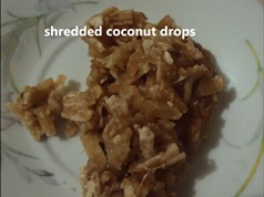 shredded coconut drops