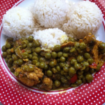 Sweet Green Peas in Curry Chicken