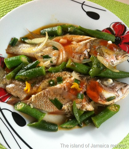 steamed snapper with okra
