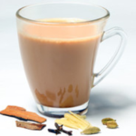 Cardamom tea with milk