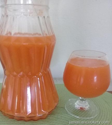 carrot ginger drink
