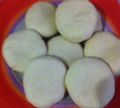 uncooked cornmeal dumplings
