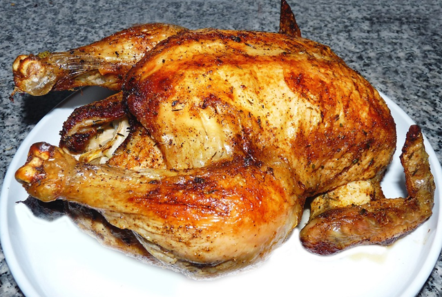 whole roast chicken