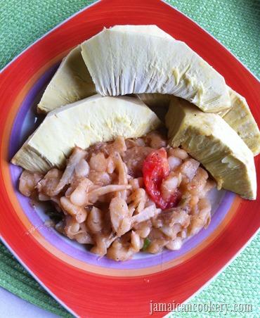 baked breadfruit