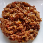 Saltfish and baked beans recipe