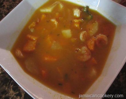 shrimp vegetable soup