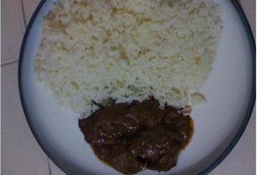 brown stewed liver