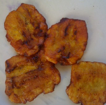 fry green plantains