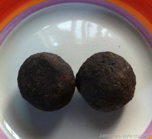 Jamaican chocolate ball