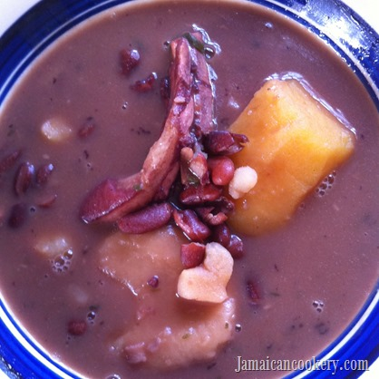 red peas soup