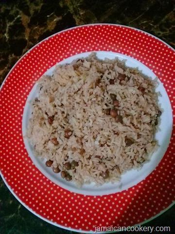 gungo rice and peas