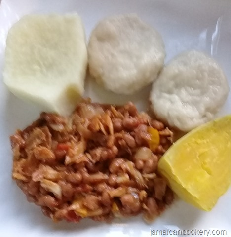 baked beans and saltfish