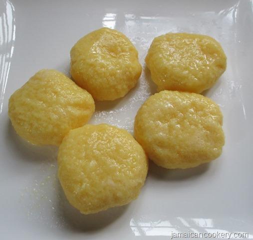 cornmeal dumplings without flour