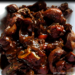 Brown stew chicken liver and gizzards recipe