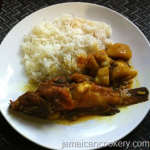 Jamaican curry fish with potatoes