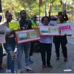 Jamaicans protest mining in Cockpit Country outside UN General Assembly