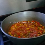 corned beef and mixed vegetables- Jamaican recipe