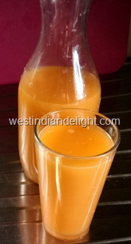 carrot and june plum drink