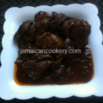 Brown Stew Chicken Liver
