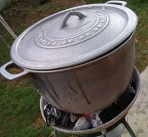 A big pot of saturday soup