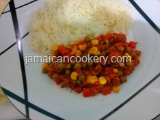 bully beef and mixed vegetables
