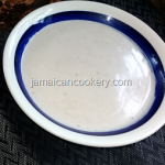Jamaican traditional green plantain porridge