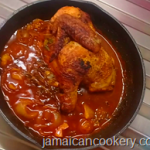 Pot roast chicken Jamaican style