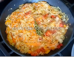 steam cabbage and carrots