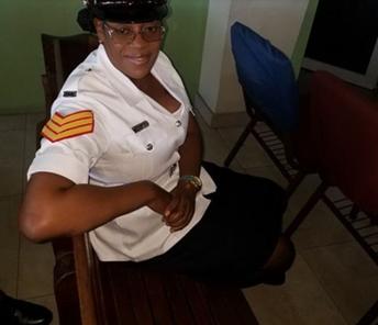 Detective Sergeant Maydene Blackwood Saunders.