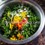 How to clean and season Jamaican callaloo
