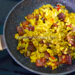Jamaican corned pork and ackee