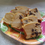 Quick and easy bread pudding Jamaican style