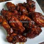 BBQ  fried chicken wings Jamaican style
