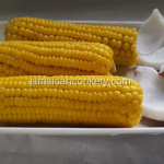 Jamaican boiled corn and coconut
