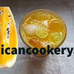Jamaican orange flesh watermelon juice